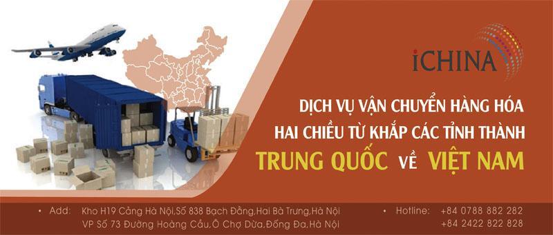 Dịch vụ đặt hàng và vận chuyển hộ hàng Trung Quốc trọn gói của iChina Company